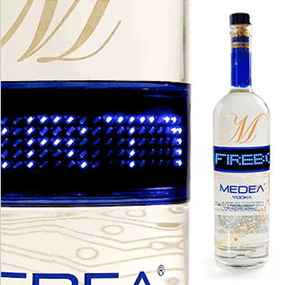Vodka Bottle With LED Message Board