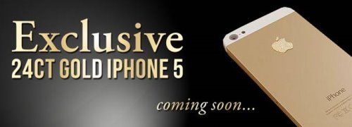 24ct Gold iPhone 5 by Stuart Hughes