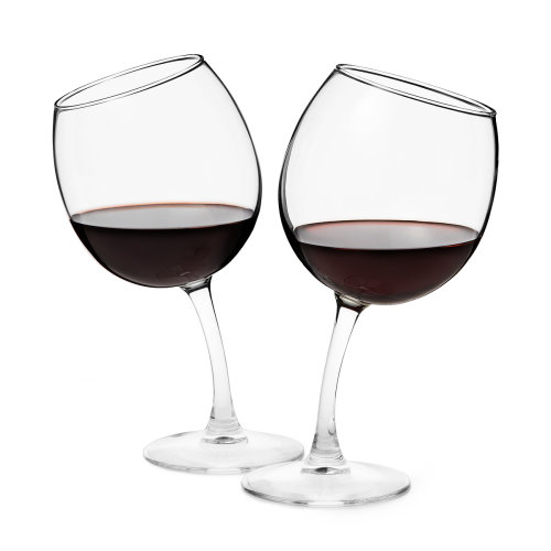 Inclined Wine Glasses