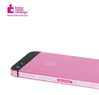 Apple iPhone 5 64GB Breast Cancer diamonds (2)