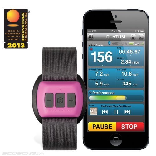 scosche rhythm Bluetooth Armband Heart Rate Monitor breast cancer (1)