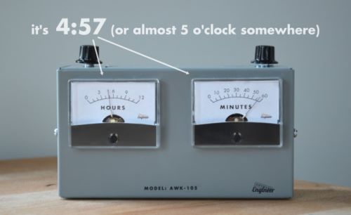 analog voltmeter clock (4)