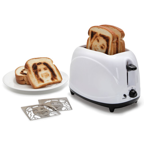 toaster prints selfie slices bread
